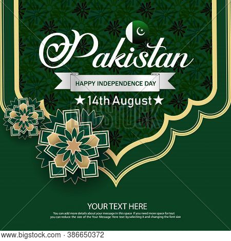 Celebrating 14th August Pakistan Independence Day Creative Vector Illustration. Creative Banner Or P