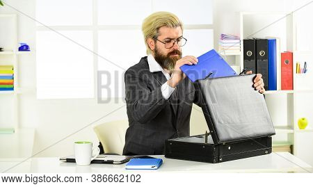 Confident Lawyer With Suitcase. Financial Director With Briefcase. Expected Commercial Benefit. Busi