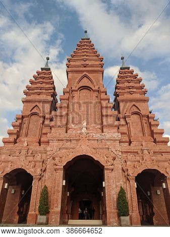 Denpasar, Indonesia - September 28, 2019: The Exterior Of Katedral Roh Kudus (holy Spirit Cathedral)