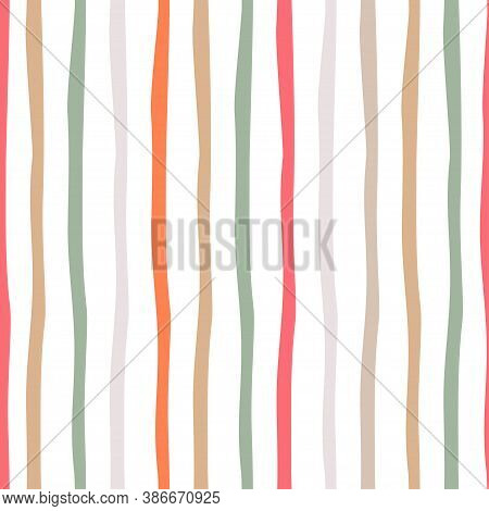 Striped Seamless Pattern On Transparent Background. Simple Vector Scalable Design For Surfaces, Text