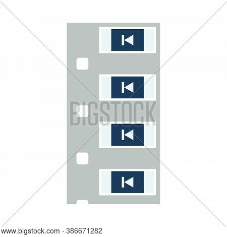 Diode Smd Component Tape Icon. Flat Color Design. Vector Illustration.
