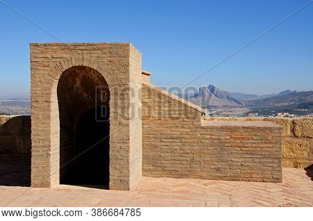 Staircase Entrance On The Castle Roof With The Lovers Mountain To The Rear (torre Del Homenaje), Ant