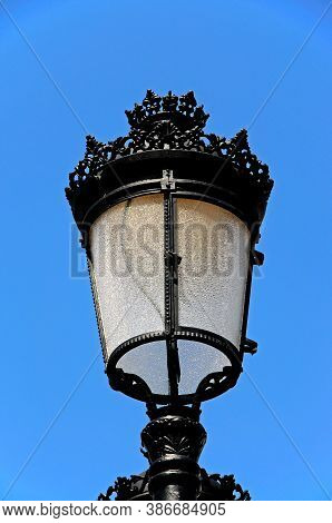 Wrought Iron Streetlight, Benahavis, Costa Del Sol, Malaga Province, Andalucia, Spain, Western Europ