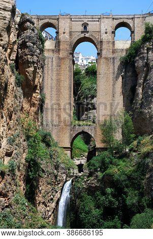 View Of The New Bridge And Ravine, Ronda, Malaga Province, Andalucia, Spain, Europe