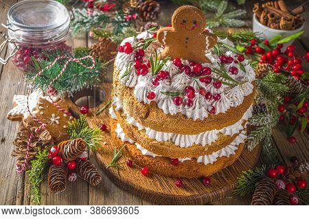 Festive Christmas Gingerbread Cake