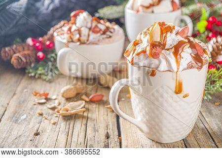 Salted Peanut Caramel Hot Chocolate