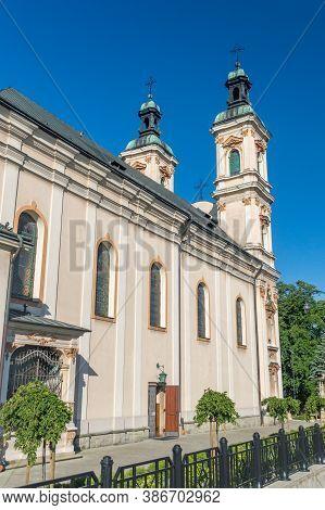 Bielsko-biala, Poland - June 15, 2020: Roman Catholic Church Of Divine Providence.