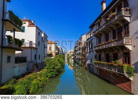 Channel in Padova Italy - architecture background