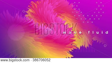 Vibrant Design. Wave Dynamic Movement. Gradient Background. Vector Trendy Vibrant Design. Creative 3