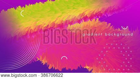 Vibrant Design. Fluid Gradient Movement. Abstract Background. Liquid Digital Vibrant Design. Creativ
