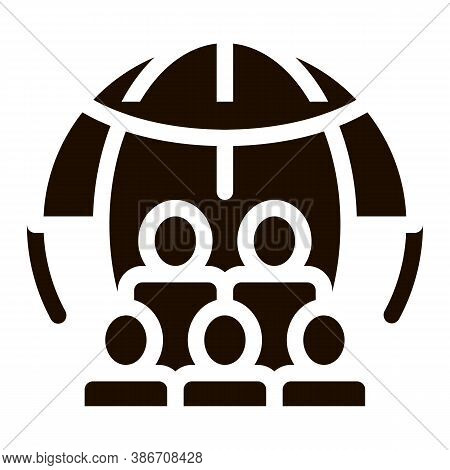 People Planet Earth Problem Vector Icon. Overpopulation Surplus Population Environmental Problem, In