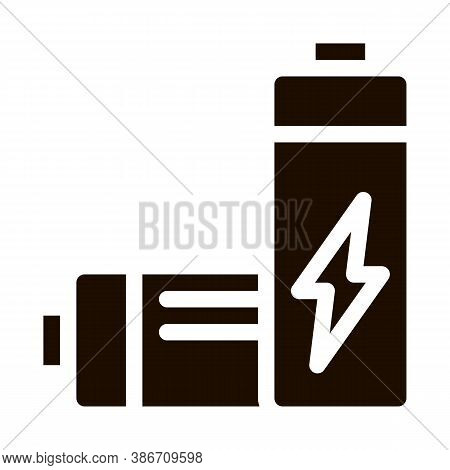 Useless Electric Battery Vector Icon. Battery Industrial Environmental Pollution, Chemical Contamina
