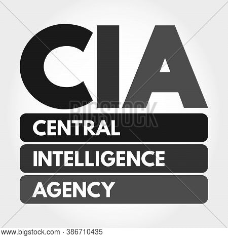 Cia - Central Intelligence Agency Acronym, Concept Background