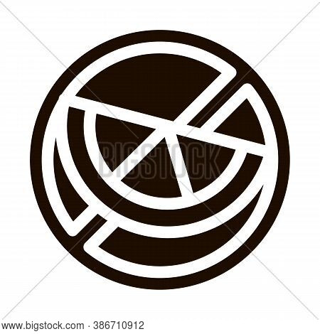 Allergen Free Sign Citrus Vector Icon. Allergen Free Food Pictogram. Crossed Out Mark With Piece Of