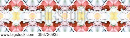 Bohemian Texture. Modern Shape. Seamless Pattern.  Watercolor Endless Bohemian Texture. Flow Wallpap