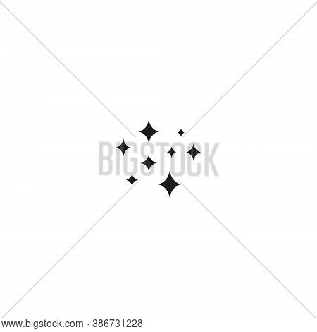 Shine Icon, Clean Star Icon Sparkling Twinkling Sparkles Symbol Sparkle Simple Design Stars Sign Iso
