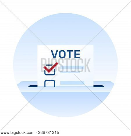 Voting Icon. Election Day. Ballot Paper. Make A Choice