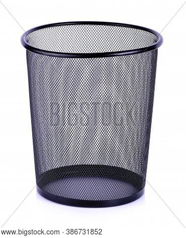Steel Basket, Empty Trash, Clean Garbage Bin, Metal Basket Bin For Waste Paper In Office Or Home On