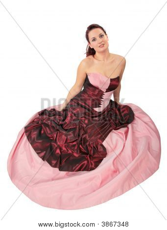 Woman With Dress With Crinoline