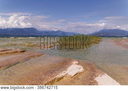 Garda Lake, Jamaica Beach Sirmione, Italy. High Quality Photo