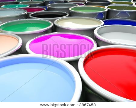 fine image 3d of color paint background poster
