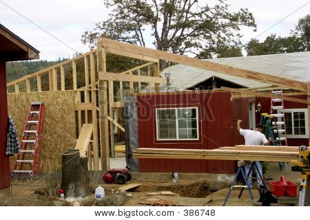 Man Working On House
