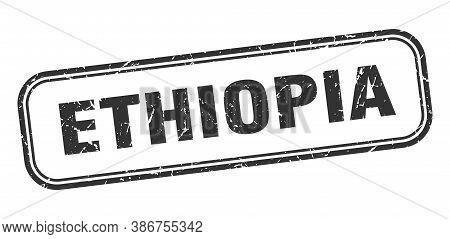 Ethiopia Stamp. Ethiopia Black Grunge Isolated Sign