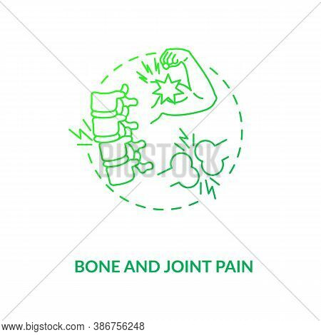 Bone And Joint Pain Concept Icon. Vitamin Shortages Symptom Idea Thin Line Illustration. Musculoskel