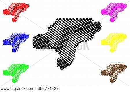 Clark County, Indiana (u.s. County, United States Of America, Usa, U.s., Us) Map Vector Illustration