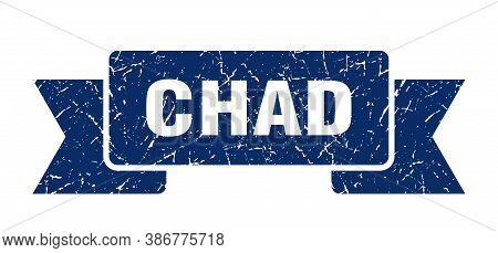 Chad Ribbon. Blue Chad Grunge Band Sign