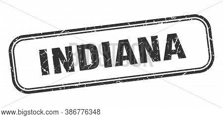 Indiana Stamp. Indiana Black Grunge Isolated Sign