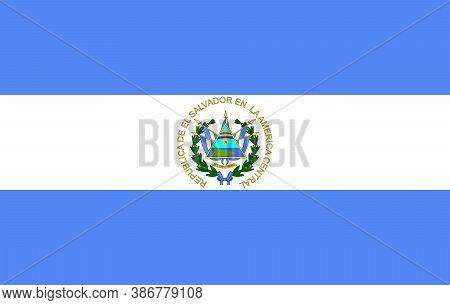 El Salvador Flag - Vector Illustrationvector Illustration Of El Salvador Flag Icon