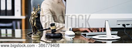 African American Man Lawyer Or Attorney. Court Litigation