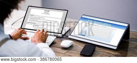 African Job Applicant Sending Resume Or Cv Online