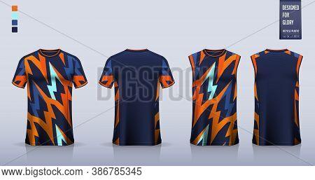 T-shirt Mockup Or Sport Shirt Template Design For Soccer Jersey Or Football Kit. Tank Top For Basket