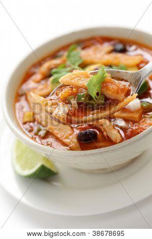 chicken tortilla soup, mexican cuisine
