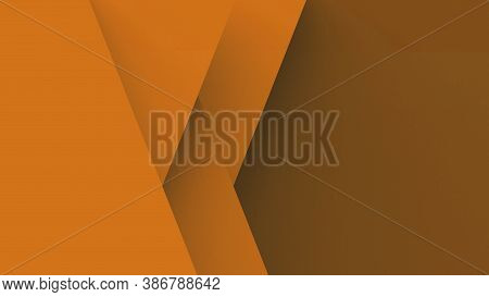 Abstract Orange Background Basic Geometry Overlaps With Shadow Illustration Render 3D Hd