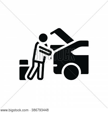 Black Solid Icon For Consumers Put-in-car Carry Haul Ote Purchaser Vendee Consumable Shopping Consum