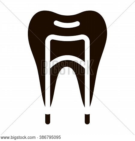 Dental Tooth Stomatology Vector Icon. Stomatology Dentist Equipment And Device Pictogram. Medical He