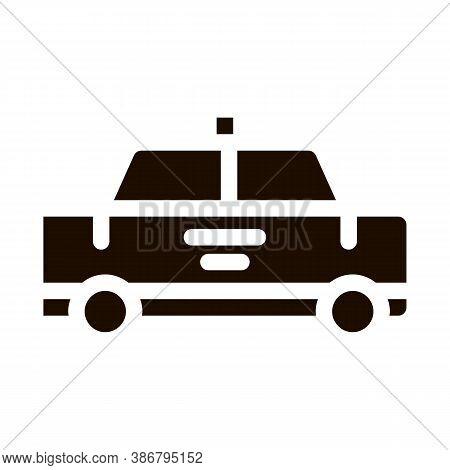 Public Transport Taxi Car Cab Vector Sign Icon . Cab Car Automobile, Urban Passenger Transport Picto