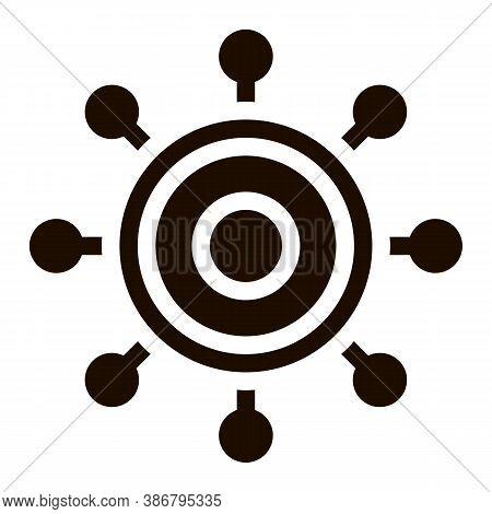 Danger Bacillus Bacteria Vector Icon. Kill Circle Micro Organism Bacteria Pictogram. Chemical Microb