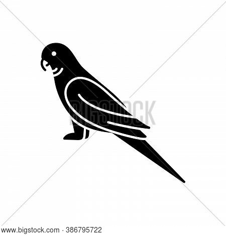 Black Solid Icon For Parrot Lovebird Pet Bird Friendly Green Macaw Cockatoo Parakeet Kea Fly Freedom