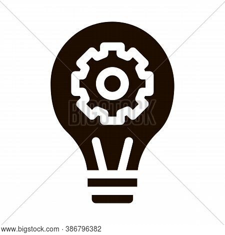 Machine Learning Artificial Intelligence Glyph Icon Sign . Artificial Intelligence Details Lightbulb