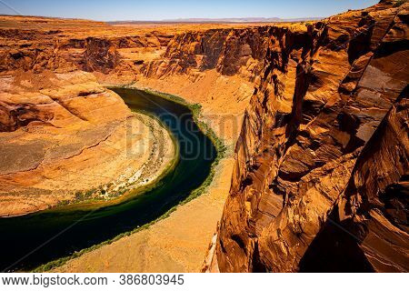 Red Rock Canyon Desert. Arizona Horseshoe Bend In Grand Canyon. Travel Lifestyle Success Concept. Ca