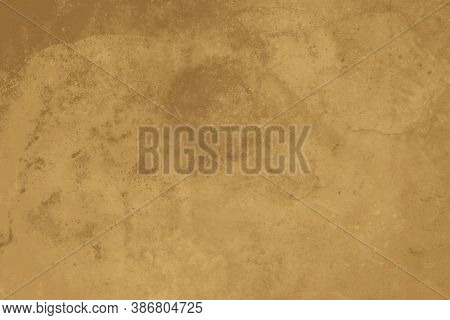 Abstract Ocher Background. Imitation Of Aged Texture Copy Space.