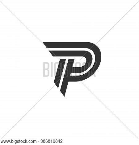 P Letter Lettermark Logo Monogram - Typeface Type Emblem Character Trademark