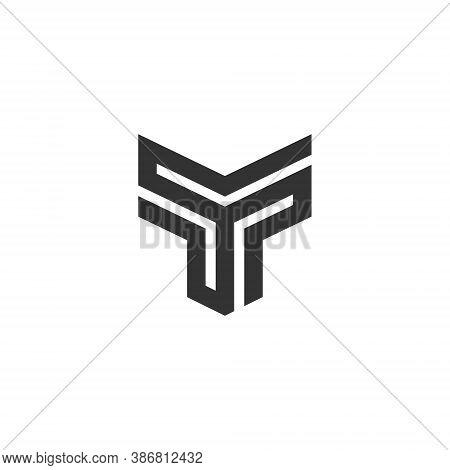 T Letter Lettermark Logo Monogram - Typeface Type Emblem Character Trademark
