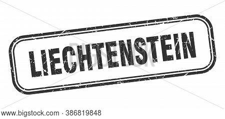 Liechtenstein Stamp. Liechtenstein Black Grunge Isolated Sign