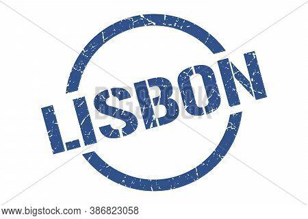 Lisbon Stamp. Lisbon Grunge Round Isolated Sign