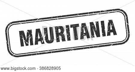 Mauritania Stamp. Mauritania Black Grunge Isolated Sign